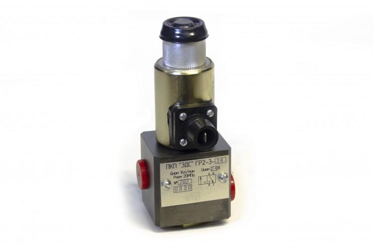 Гидрораспределитель с электромагнитным управлением ГР 2-3 ( 12 и 24В) - купить для спецтехники и автокранов по цене 2 500 руб. с доставкой